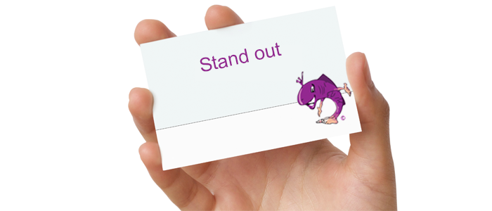 stand-out with a good business card