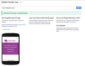 Do you pass the mobile friendly test