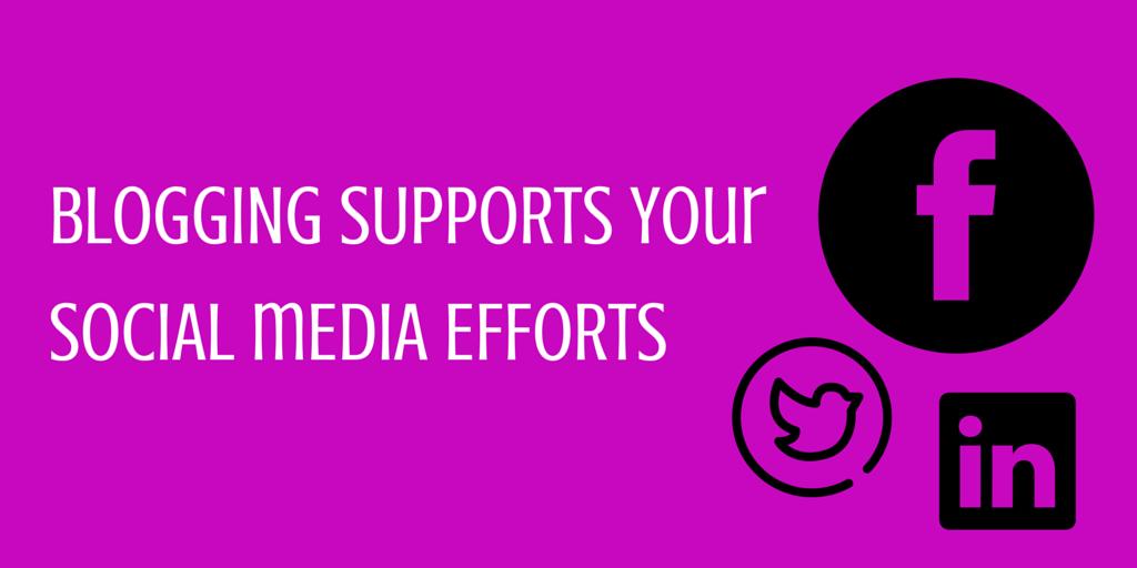 blogging supports your social media efforts