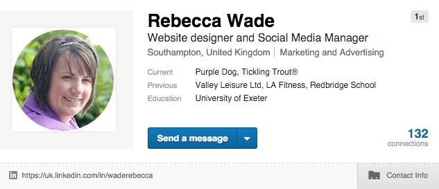 rebecca wade on linkedin