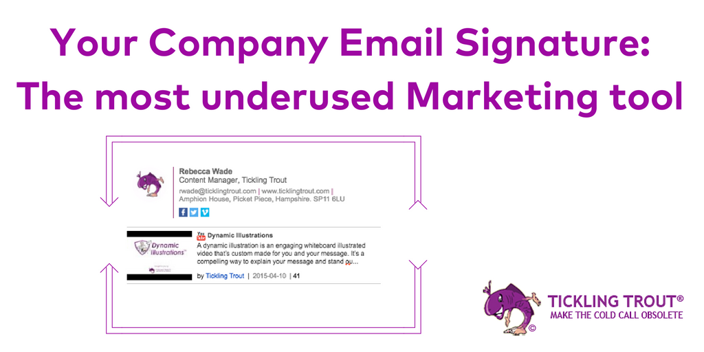 Your Company Email Signature: The most underused Marketing tool