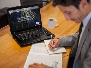 Web Design for Purple Reception